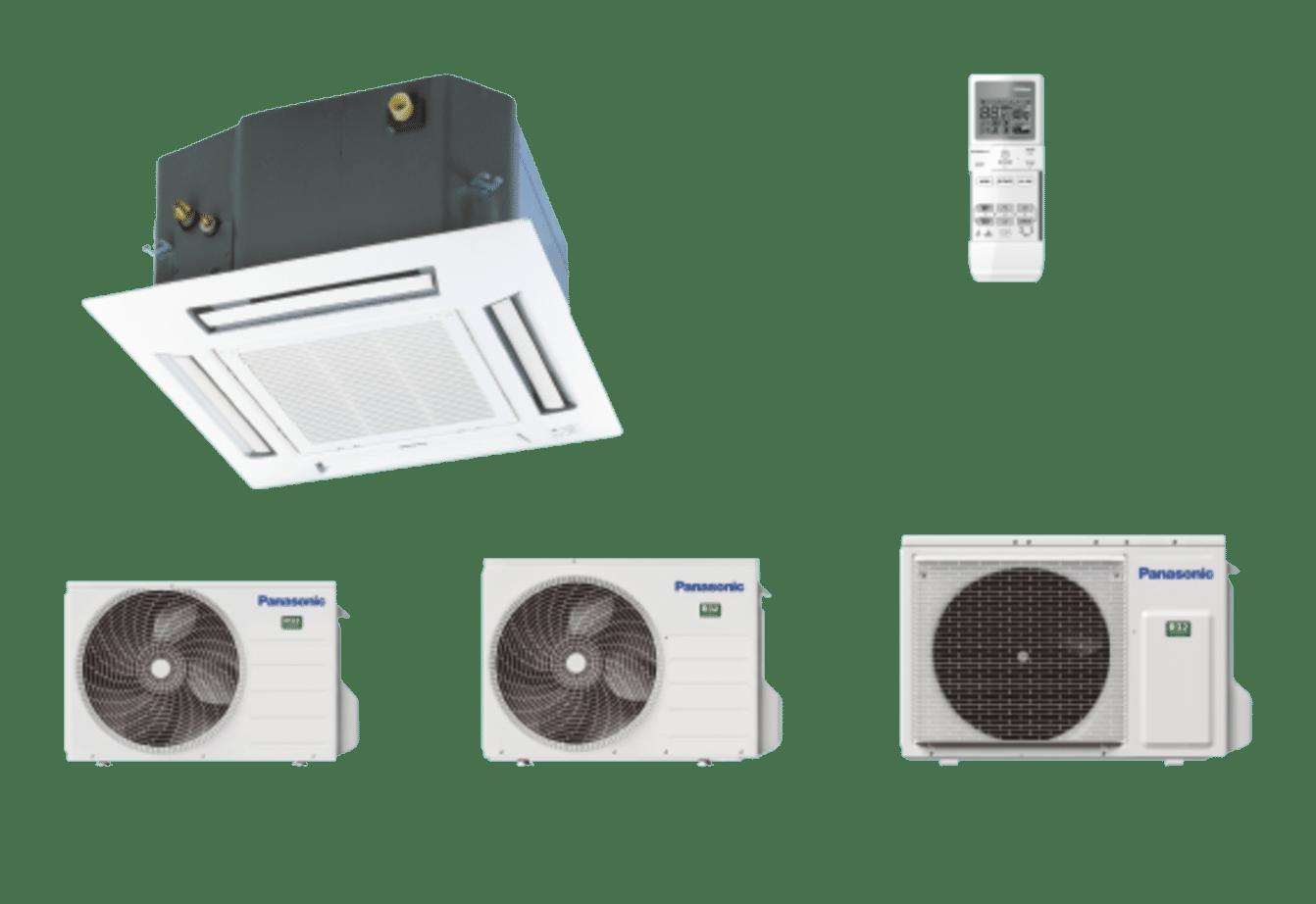 PANASONIC - Cassette 4 voies 60x60 Inverter • R32