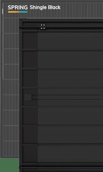DUALSUN -  Modèle Hybride - Spring Shingle Black 375 W